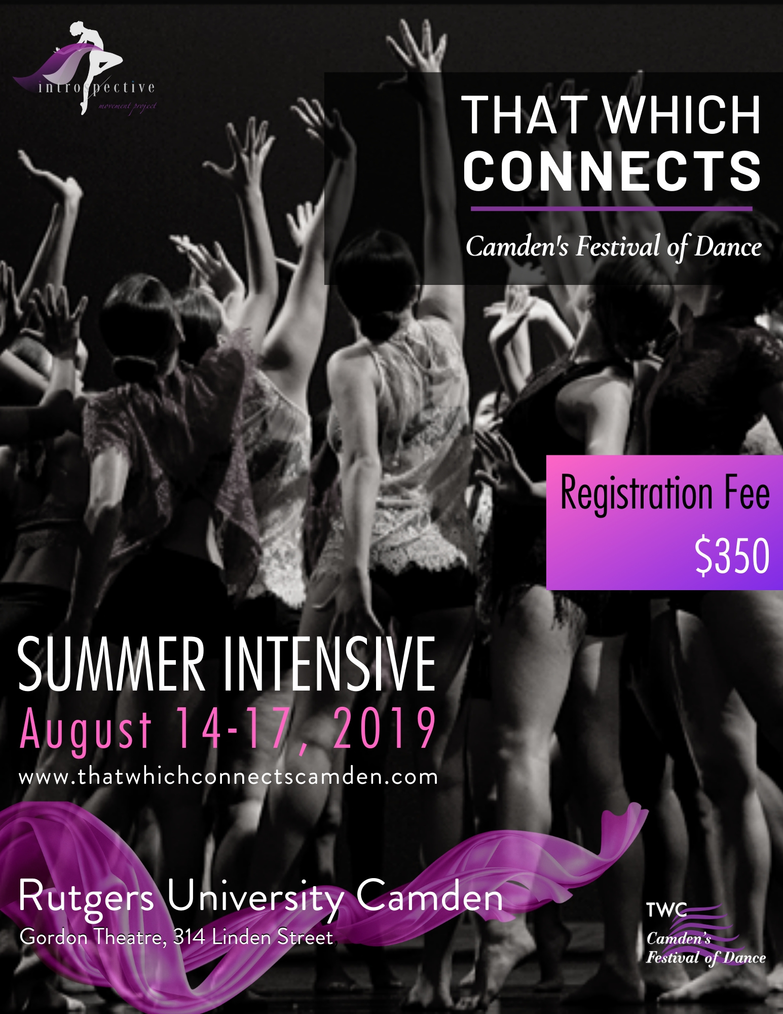 Flyer for 2019 Dance Intensive